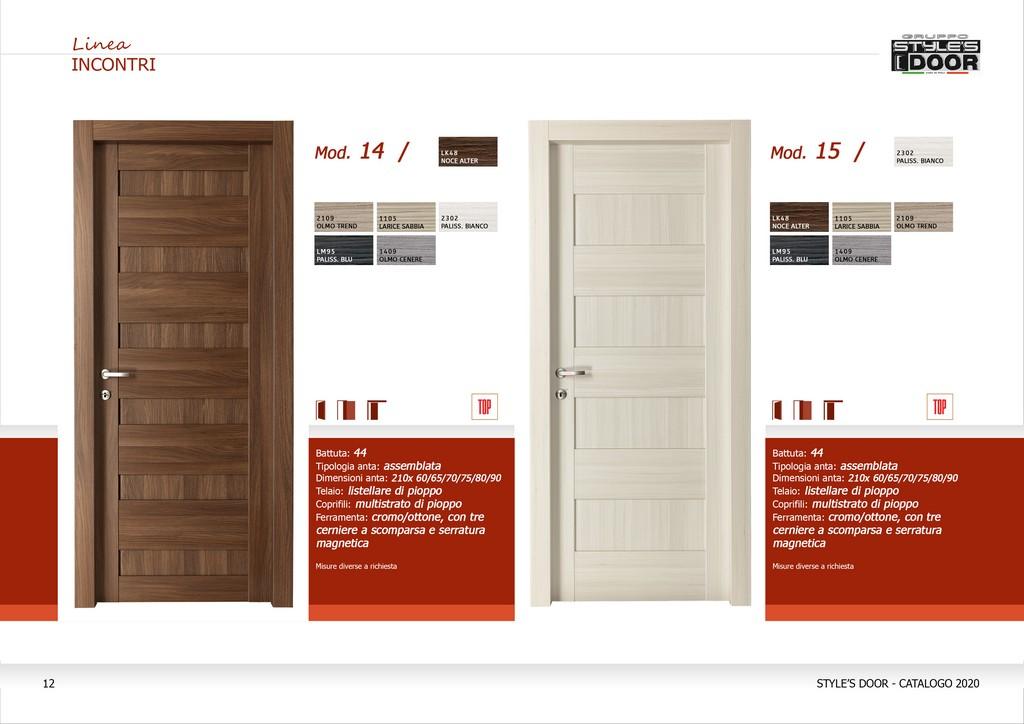 Porte interne in laminato style 39 s door partinico palermo - Materiale maniglie porte ...